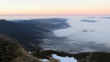 Blick übers Mittelland zum Jura
