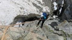 Abseilmanöver auf den Gletscher