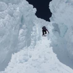 Rinne zum Gipfel