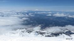 Blick nach Norden - Mount Saint Helens & Mount Rainier