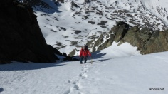 in der Gipfelrinne