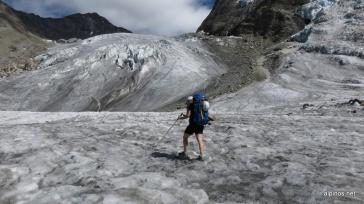 Wanderung über den Riedgletscher
