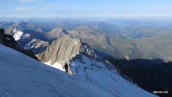 Aufstieg zum ersten Dôme