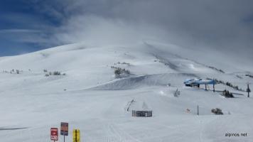 Hier war Ende - Gipfel des Mt. Bachelors im Nebel
