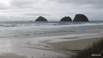 Felsen im Meer bei Netarts