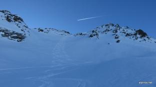 herrlicher Schnee in der Flanke