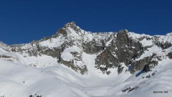 Gletscherhorn links, Schwarze Wand rechts