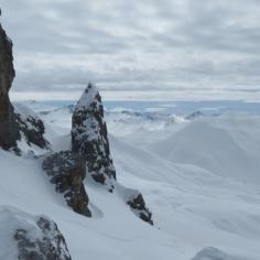 Drusator, Blick ins tiefverschneite Prättigau