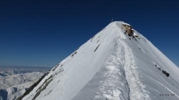Über den Gipfelgrat