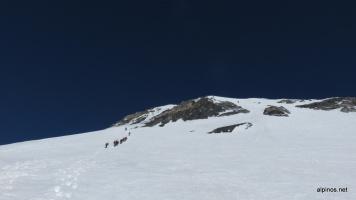 kurz unterhalb des Gipfels - wir waren nicht die letzten heute...