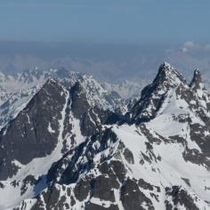 Erinnerungen an eine tolle Klettertour im Sommer: Gross Litzner & Gross Seehorn (re)