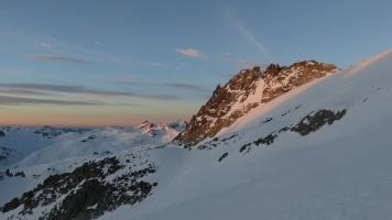 Morgenstimmung auf dem Tiefengletscher